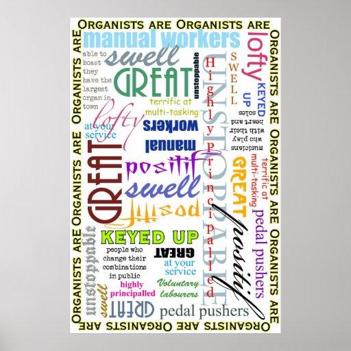 ¡Los organistas son todo! poster Póster