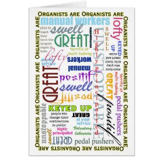 Los organistas son todo tarjeta en blanco