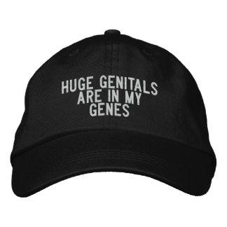 los órganos genitales enormes están en mis genes gorra de beisbol bordada