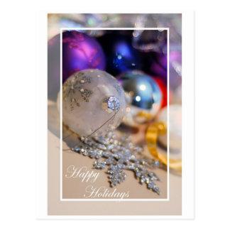 Los ornamentos - buenas fiestas - esconden dentro postales