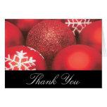 Los ornamentos del navidad le agradecen cardar felicitacion