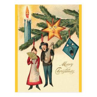 ¡Los ornamentos del navidad vienen VIVO Postales