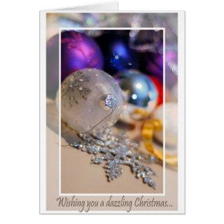 Los ornamentos - deseándole - esconden dentro tarjeta de felicitación