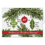 Los ORNAMENTOS doblaron la tarjeta de Navidad de l