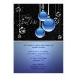 Los ornamentos elegantes del navidad en el fiesta invitación 12,7 x 17,8 cm