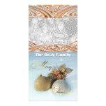 Los ornamentos elegantes del navidad en personaliz tarjeta fotografica personalizada