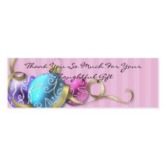 Los ornamentos en colores pastel del día de fiesta tarjetas de visita mini
