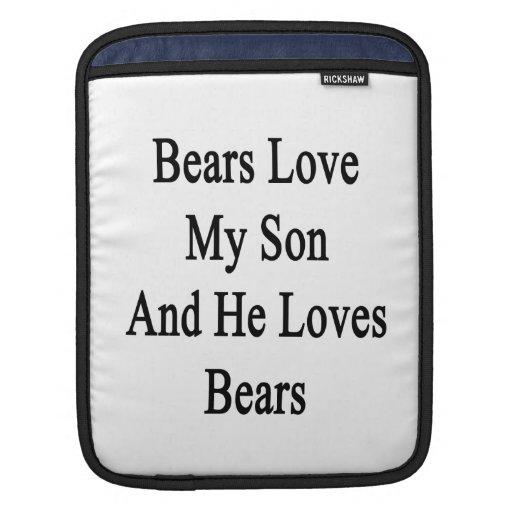 Los osos aman a mi hijo y él ama osos funda para iPads