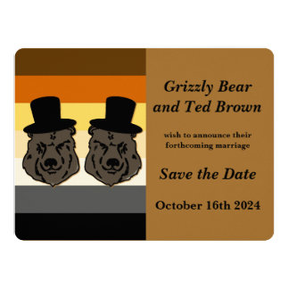 Los osos de Baskerville ahorran la invitación de Invitación 16,5 X 22,2 Cm