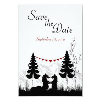 Los osos de la montaña ahorran la invitación del invitación 8,9 x 12,7 cm