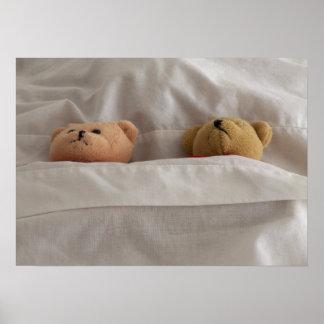 Los osos de peluche ayunan poster dormido de la be