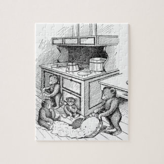 Los osos de peluche hacen un lío en la cocina rompecabeza