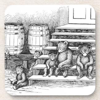 Los osos de peluche han bebido demasiada sidra posavasos de bebida