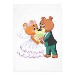 los osos de peluche lindos de novia y del novio di anuncios personalizados