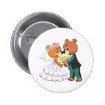 los osos de peluche lindos de novia y del novio di pins