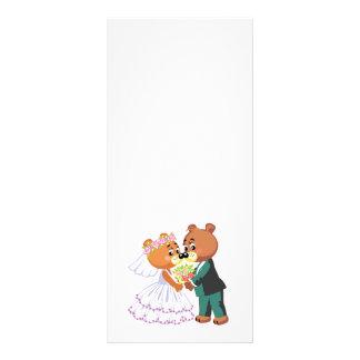 los osos de peluche lindos de novia y del novio di tarjeta publicitaria personalizada