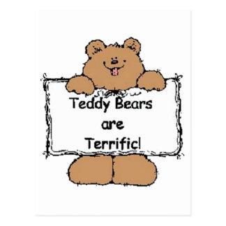 Los osos de peluche son fabulosos postales