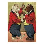 Los osos del baile del Victorian del vintage ahorr