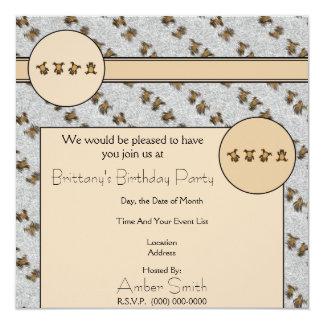 Los osos del Cartwheel mancharon la invitación de Invitación 13,3 Cm X 13,3cm