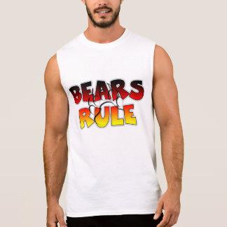 Los osos gobiernan - la camiseta sin mangas de la