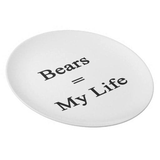 Los osos igualan mi vida platos