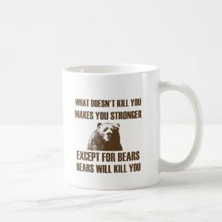 Los osos le matarán taza básica blanca