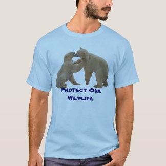 Los osos polares de la fauna protegen nuestra playera