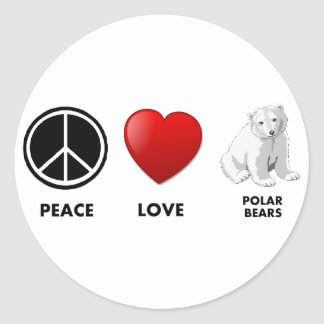 los osos polares del amor de la paz ahorran los etiquetas redondas