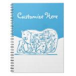 Los osos polares modificaron el cuaderno para
