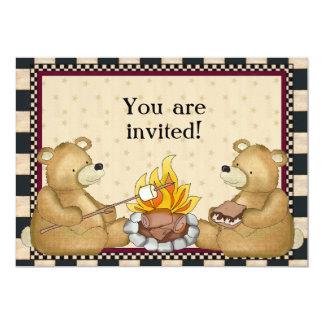 Los osos que acampan añaden la invitación de las