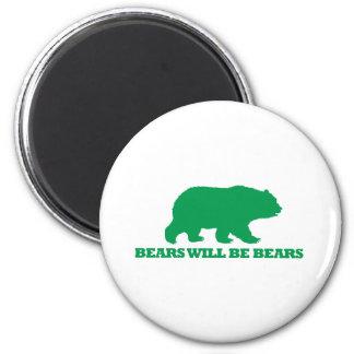 Los osos serán osos imán redondo 5 cm