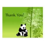 Los osos y el bambú de panda le agradecen postal