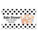 Los osos y la fiesta de bienvenida al bebé de los plantillas de tarjetas personales