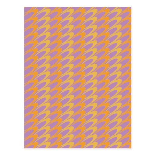 Los Ovals (orange/purple) Postcard