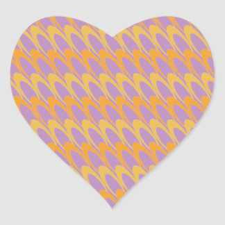 Los Ovals (orange/purple) Stickers