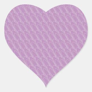 Los Ovals (purple) Heart Stickers