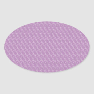 Los Ovals (purple) Oval Stickers