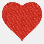 Los Ovals (red) Heart Sticker