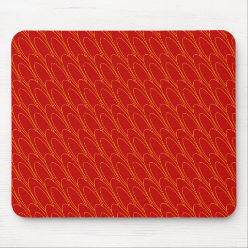 Los Ovals (red) Mouse Pad