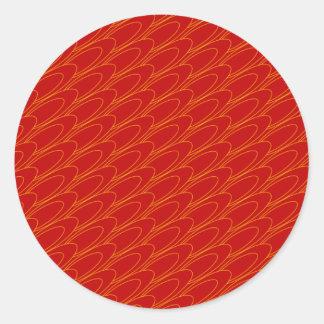 Los Ovals (red) Round Stickers