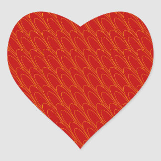 Los Ovals (red) Heart Stickers