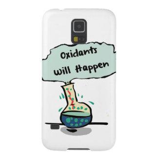 Los oxidantes suceden - humor de la química fundas de galaxy s5