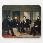 Los pacificadores con Abraham Lincoln Tapete De Ratones