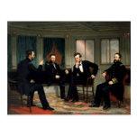 Los pacificadores con Abraham Lincoln Tarjeta Postal