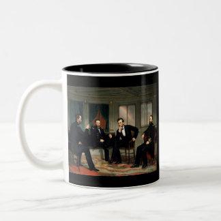 Los pacificadores con Abraham Lincoln Taza De Café