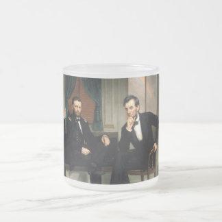 Los pacificadores con Abraham Lincoln Taza De Cristal