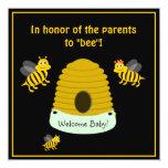 Los padres a la abeja manosean la fiesta de invitación 13,3 cm x 13,3cm