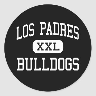Los Padres - Bulldogs - Continuation - King City Round Sticker