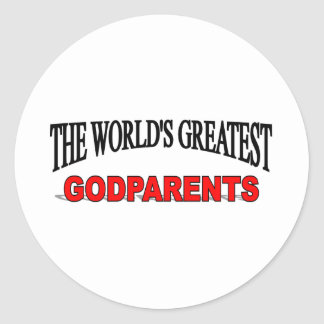 Los padres más grandes de dios del mundo pegatinas redondas