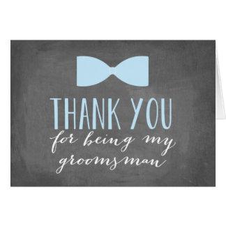 Los padrinos de boda le agradecen padrino de boda tarjeta pequeña